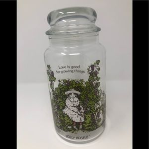 Vintage Holly Hobbie glass jar | Holly Hobbie